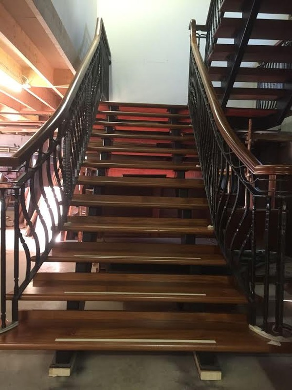 Large open tread staircase