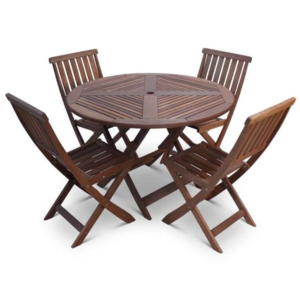 12 sets of round folding table and 4 chairs