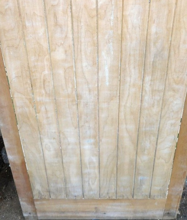 1930's Original Stripped Exterior Door, detail