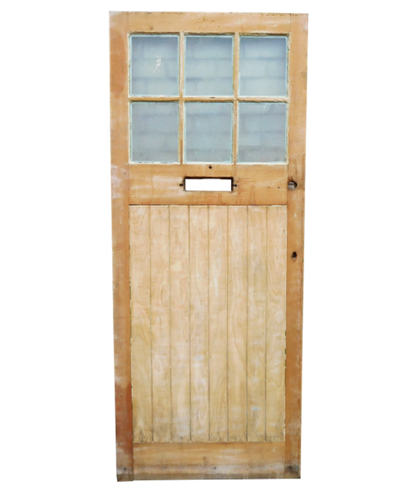 1930's Original Stripped Exterior Door