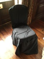 Black chair covers for sale