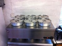 6 Pot Dry Parry Bain Marie with Pots and Lids