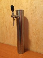 Beer Tap Faucet Draft 1 Lines Stainless Steel Tower