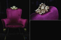 Purple Throne Chair