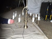 8-arm Zurich Antique Brass Chandeliers