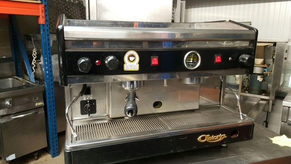 2 group semi automatic coffee machine