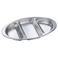 Stainless Steel Veg Dish 3 Divided