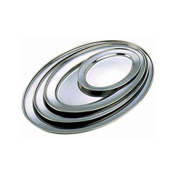 Brand New stainless steel oval flats