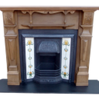 Original Pine Fire Surround with Cast Iron Insert
