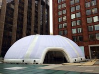 20m Inflatable Dome in White, Excellent Condition