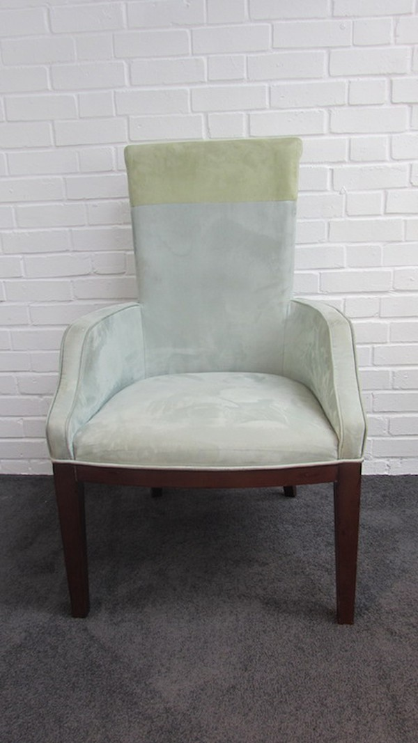 Two Tone Suede Green Desk Chairs