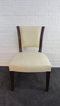 Cream Leather Patterned Desk Chairs