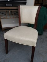 Cream Leather Patterned Desk Chairs x 10