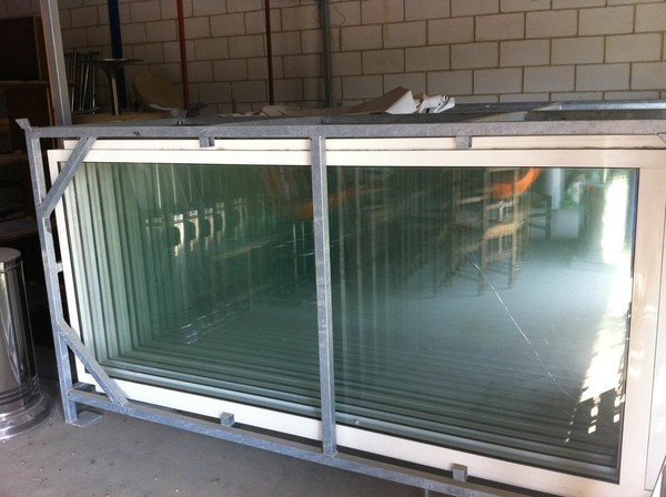 Glass doors for marquees