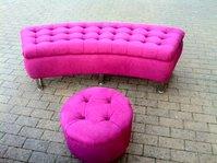 hot pink seating set