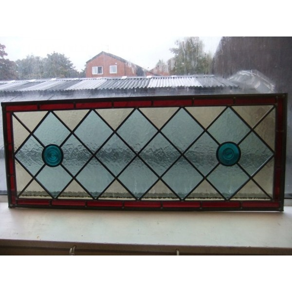 Handmade Stained Glass Overhead Panel