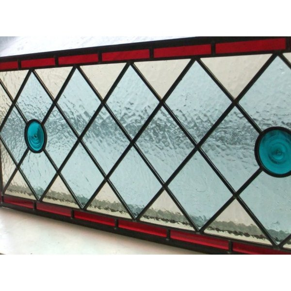 Handmade Stained Glass Overhead Panel