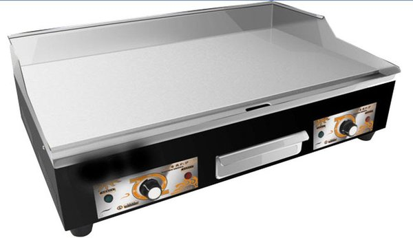 Electric Steel Griddle Counter Top Flat Hotplate