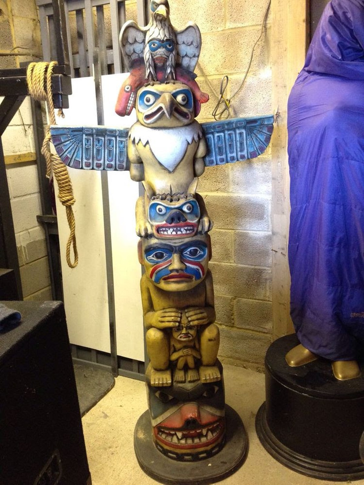 Secondhand Prop Shop Cowboy And Wild West Resin Totem