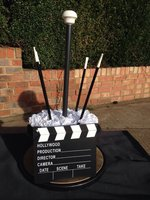 Top hat Hollywood style table centres