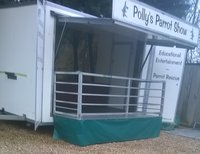 Bespoke Box Trailer with attached Folding All Aluminium Stage