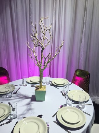 Glitter Tree Table Centres