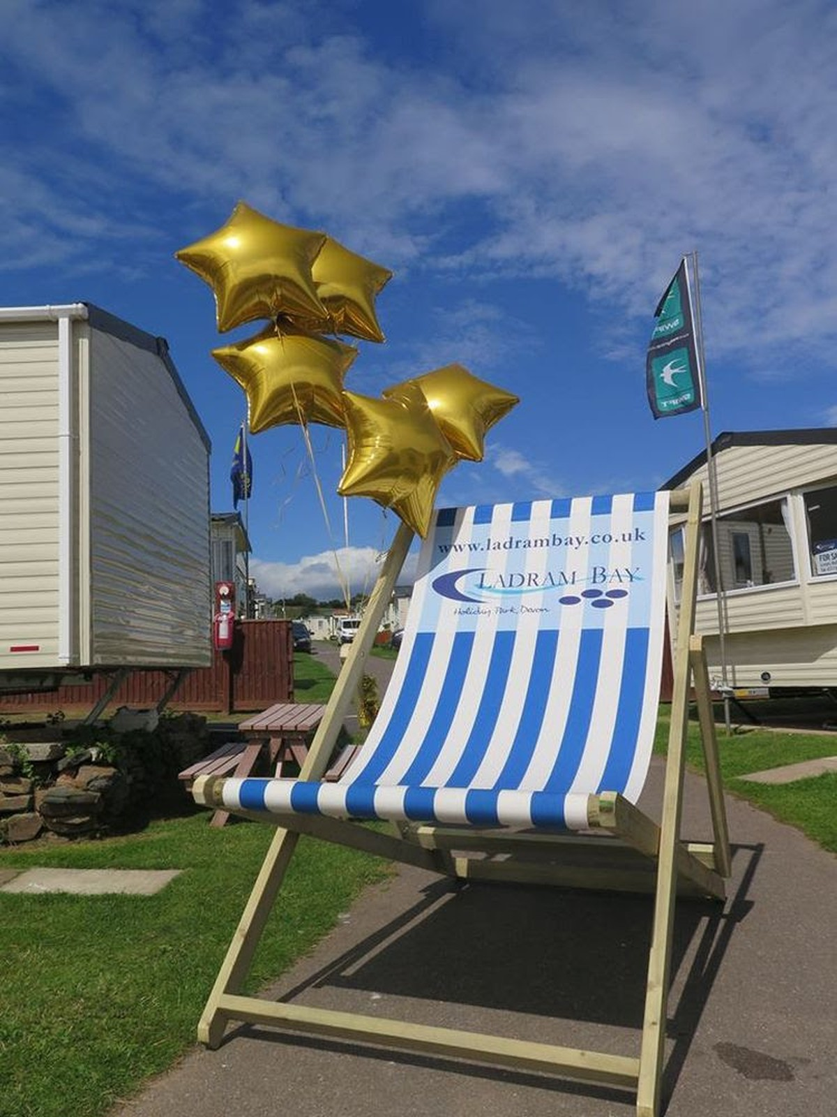 Secondhand Prop Shop Seaside And Beach Giant Deckchairs Devon