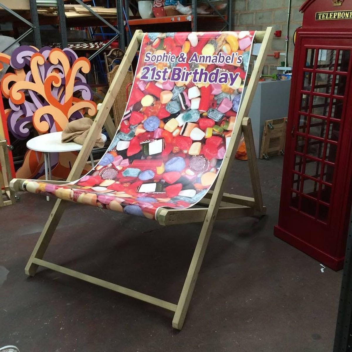 Secondhand Prop Shop Seaside And Beach Giant Deckchairs Devon