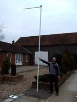 4.5m Portable Flag Poles with Rotating Arm (Set of 7)