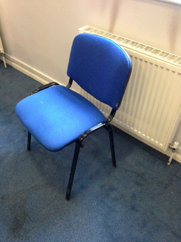 30 Conference Chairs - Blue - Used