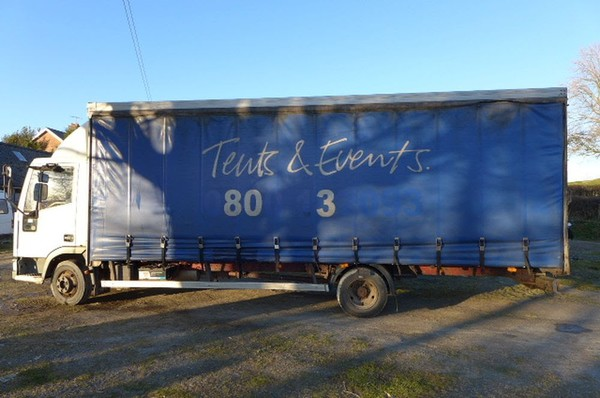 7.5 Ton Ford Iveco 75E15 22ft Curtainside Truck