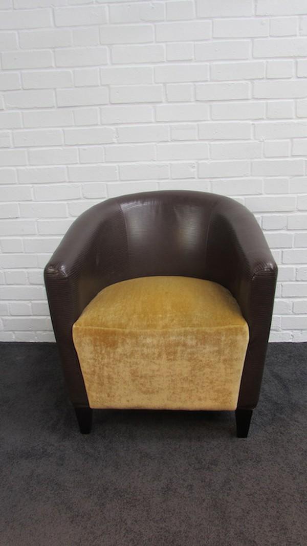 Faux Crocodile Tub Chairs