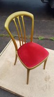 Gala Resin Stacking Chairs Gold Frame