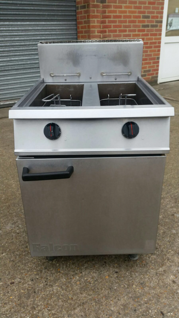 Falcon Twin Basket Natural Gas Fryer