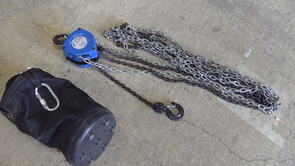 Tractel 0.5 tonne Manual Chain Hoists x 4