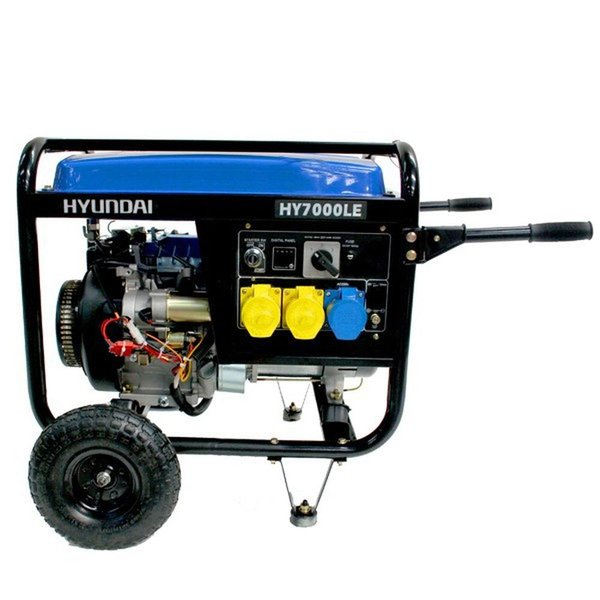 6.9 kVA Hyundai Electric Start Petrol Generator - Brand New
