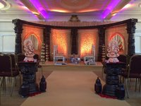 Carved Indian pillars - Mandap