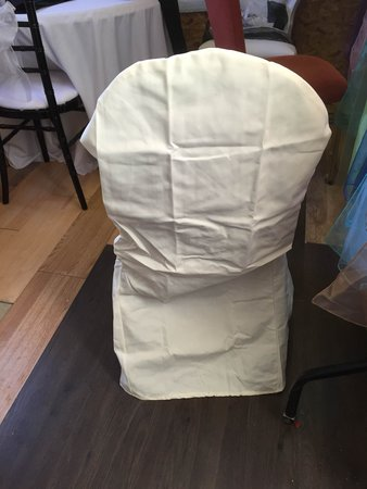 Ivory cotton round top brand new linen chair covers