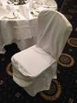 Ivory cotton square top chair covers