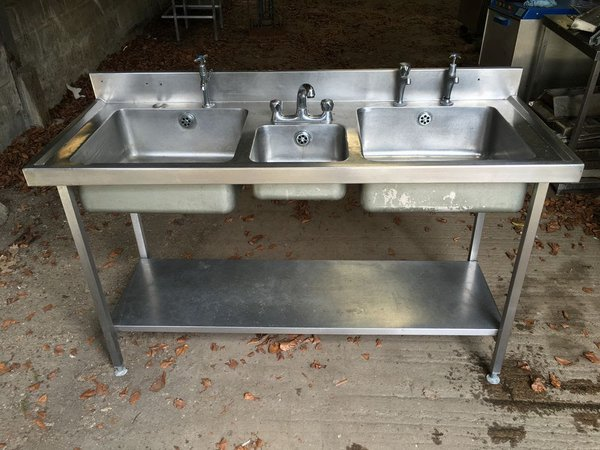 Compact Triple Bowl Stainless Steel Sink