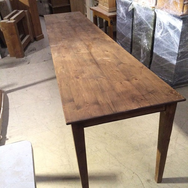 Large Solid Pine Refectory Table
