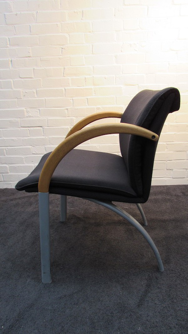 Conference Chair with Curved Arms