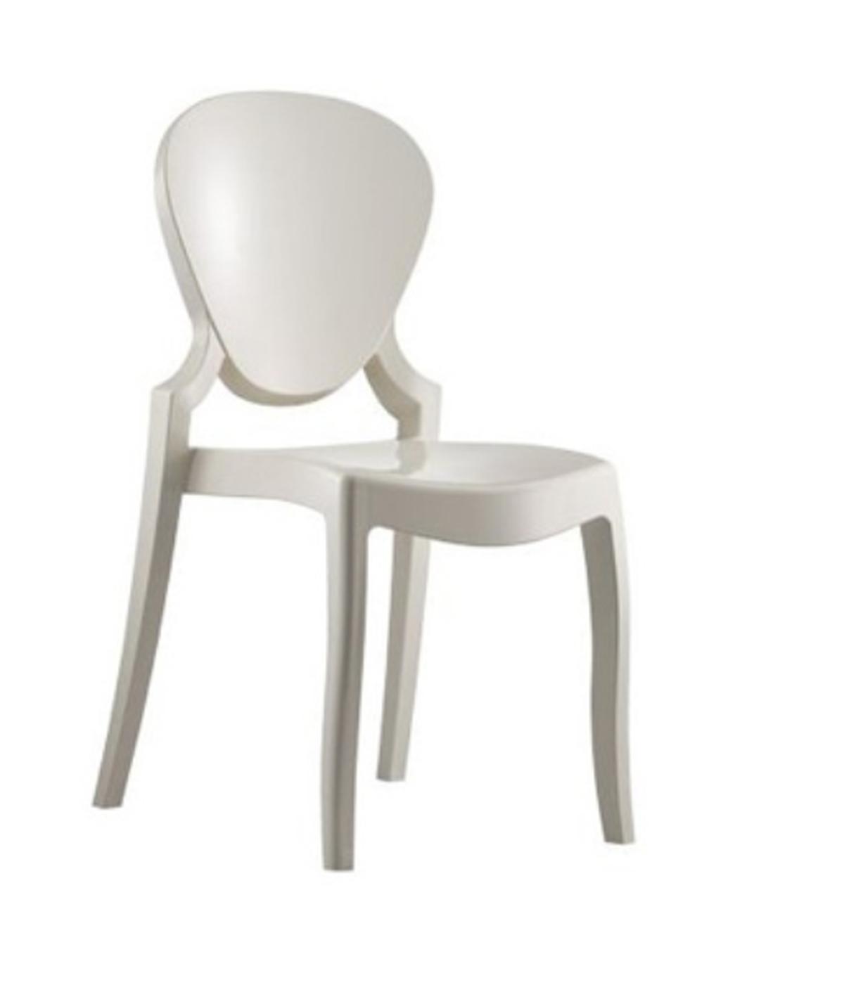 White queen chair