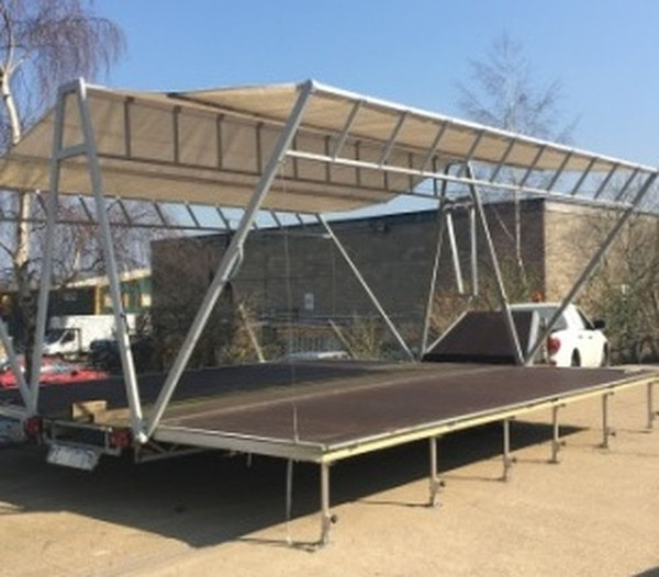 Portable Stage - Business on a trailer