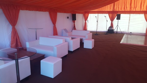Marquee chill out area