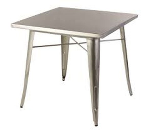 Tolix Style Industrial Tables, Gunmetal Top
