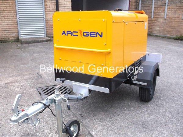 Arc-Gen 15kva towable diesel generator
