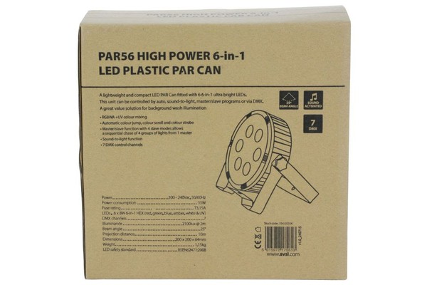 12x LED Par Cans RGBWAUV 6 in 1 LED Uplighters DMX
