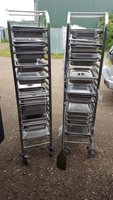 chafing trays / trolley's