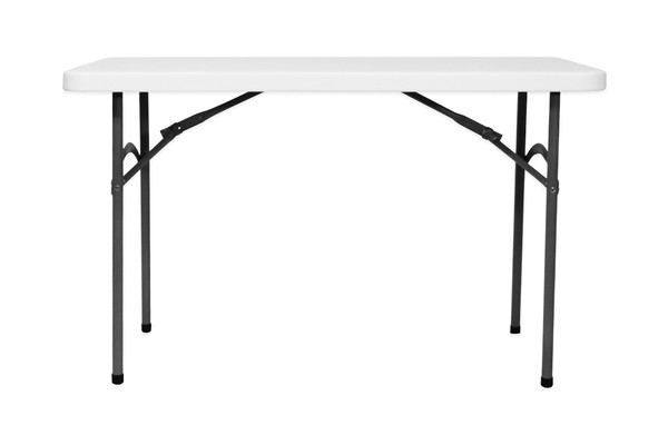 4Ft Blow mouldered table with folding legs